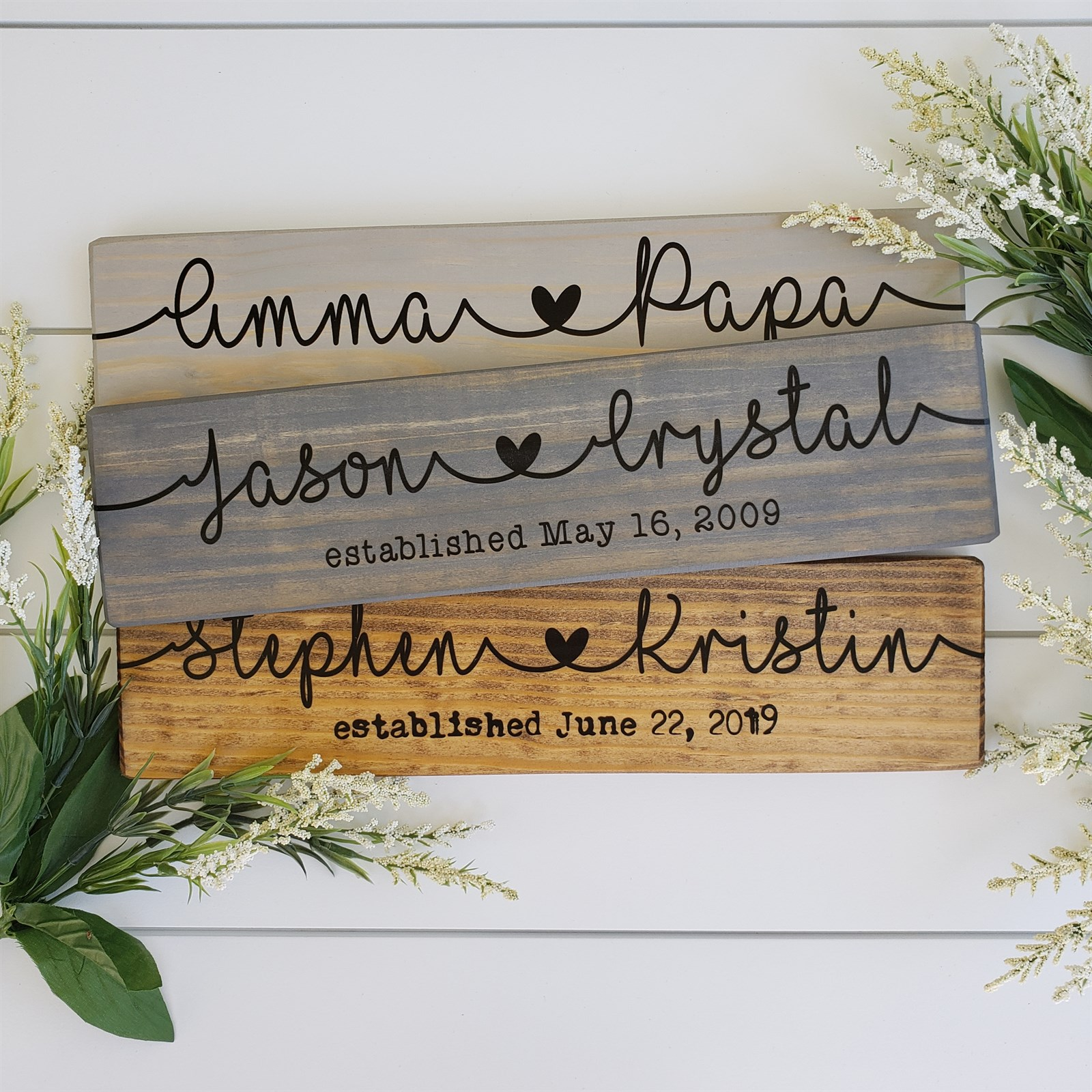 Personalized Couple Name Sign | Jane