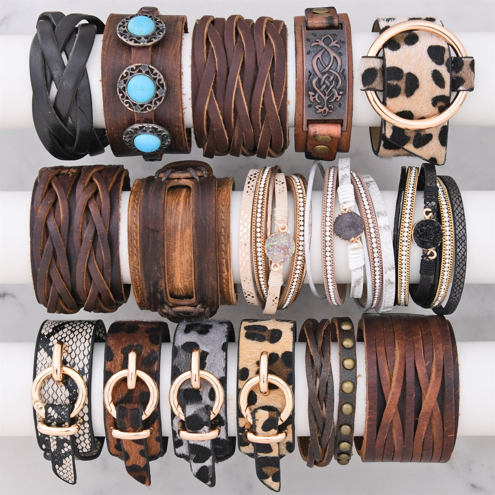 Hip Leather Bracelets Only $8.99 w/ Free Shipping