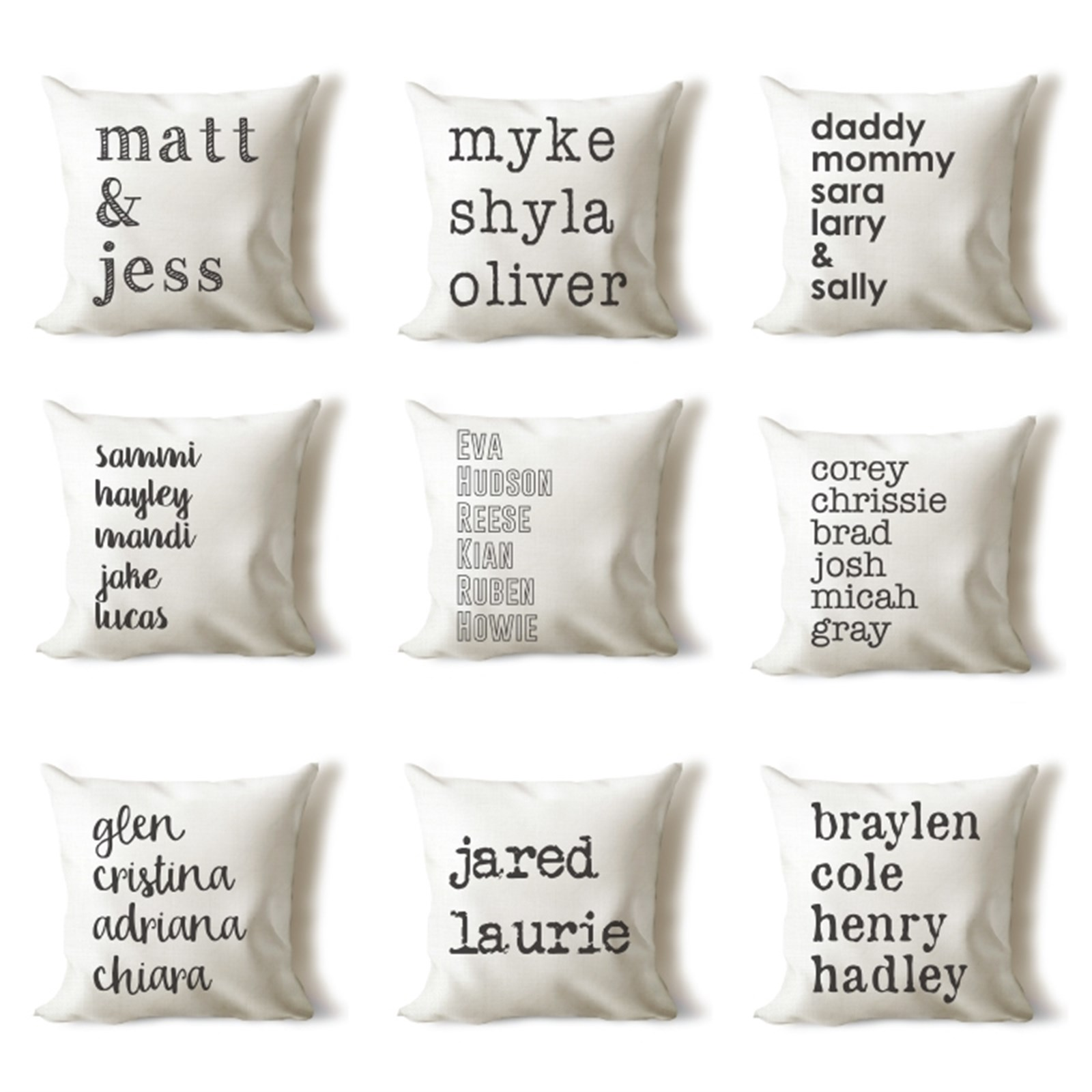 Personalized Name Pillow Covers Now $9.99 Shipped